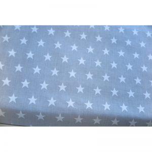 Tkanina bawełna 135g gwiazdki na szarym