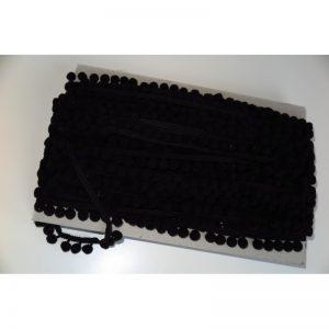 Taśma z pomponami 2cm Czarny
