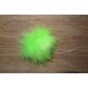 pompon futrzany Limonka Neon 12 cm