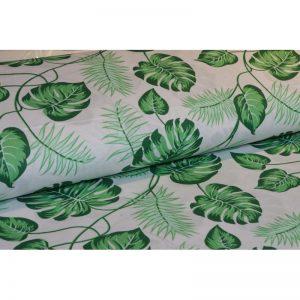 Tkanina bawełna 135g Monstera zielona