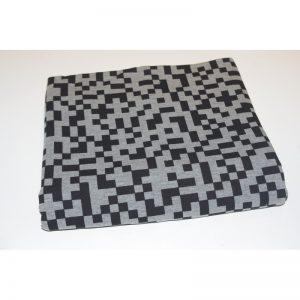 Dresówka pętelka Piksele/ Minecraft Ciemny melanż 270g