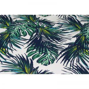 Dresówka pętelka 240g Monstery palmy zieleń