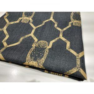 Len naturalny tapicerski sowy na granacie 240g