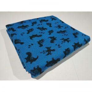 Tkanina bawełniana splot żakardowy 260g Dinozaury niebieskie