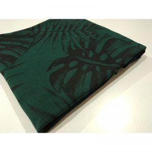 Dresówka pętelka Premium 270g Monstery palmy butelkowa zieleń