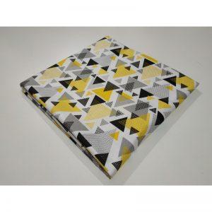 Tkanina bawełna 135g trójkąty żółte